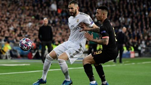 Karim Benzema Gabriel Jesus Real Madrid Manchester City Champions League 2020