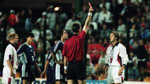 David Beckham England Argentina red card 1998 World Cup