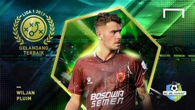 Gelandang Terbaik Liga 1 2017 - Willem Jan Pluim