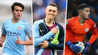 Eric Garcia Phil Foden Aro Muric Manchester City 2018-19