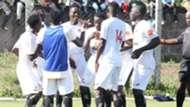 Shabana FC players celebrate against Kangemi All Stars.