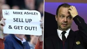 Mike Ashley, Ed Woodward split