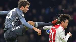 Thomas Muller, Nicolas Tagliafico, Ajax vs Bayern Munich
