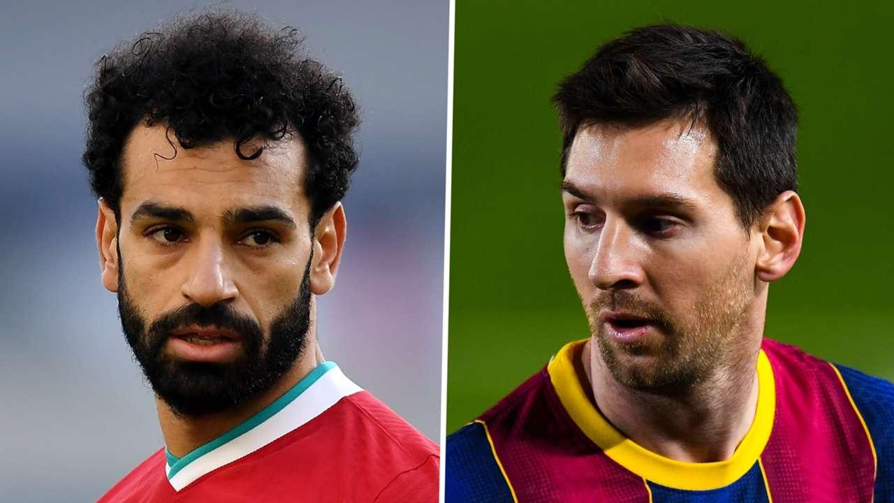 Mohamed Salah Liverpool Lionel Messi Barcelona 2020-21