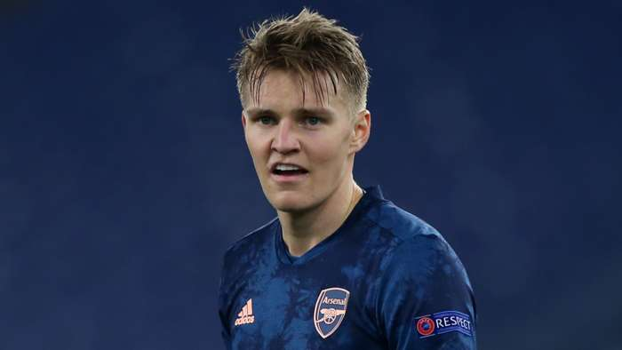 Martin Odegaard, Arsenal, Europa League away 2020-21
