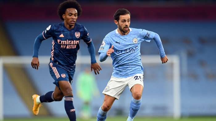 Bernardo Silva Manchester City Willian Arsenal 2020-21