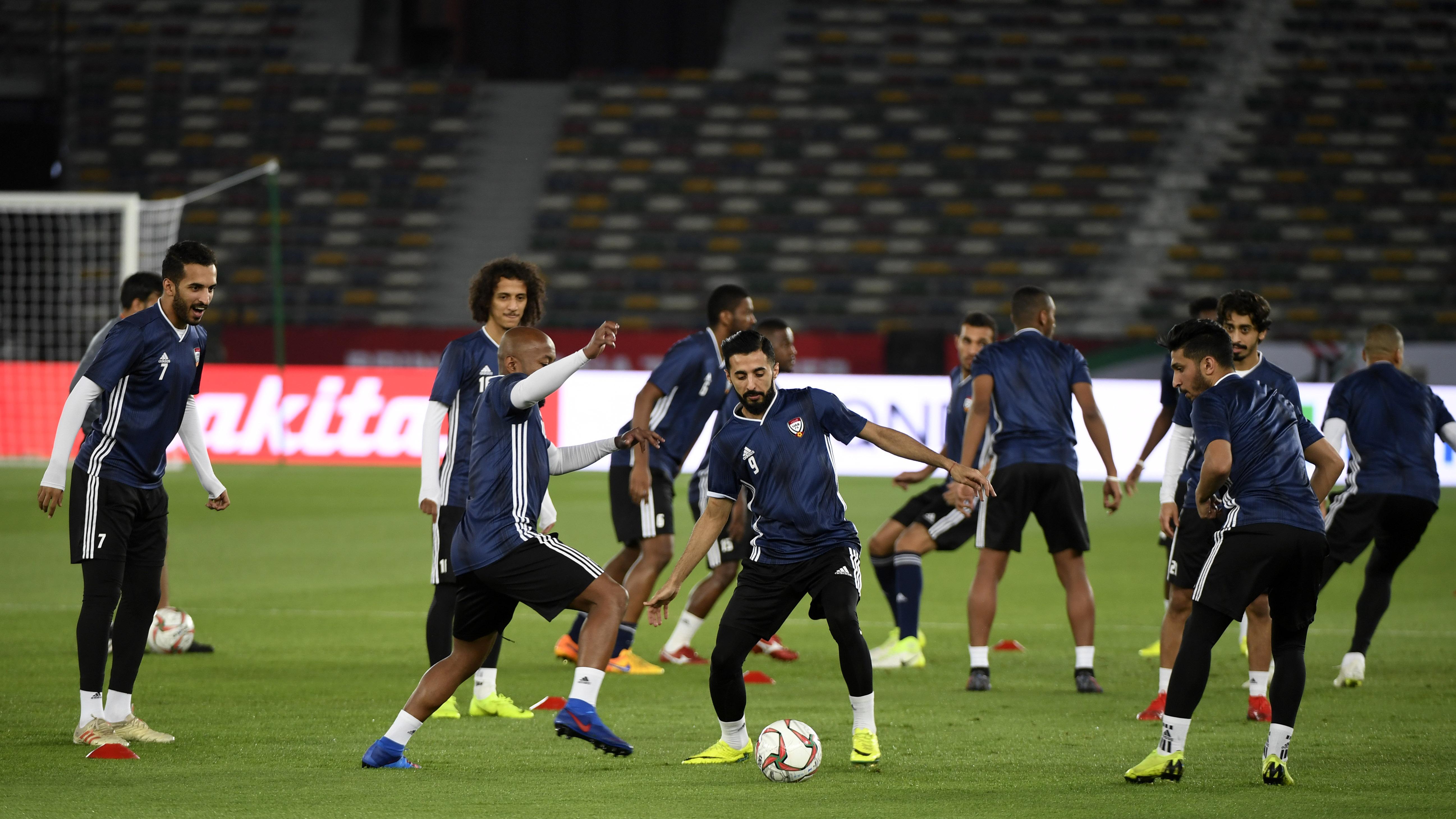 UAE team training Asian Cup 2019