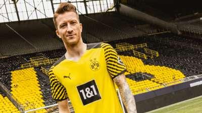 Borussia Dortmund home kit 2021-22 Puma Marco Reus