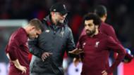 Jurgen Klopp James Milner Mohamed Salah Liverpool 2018-19