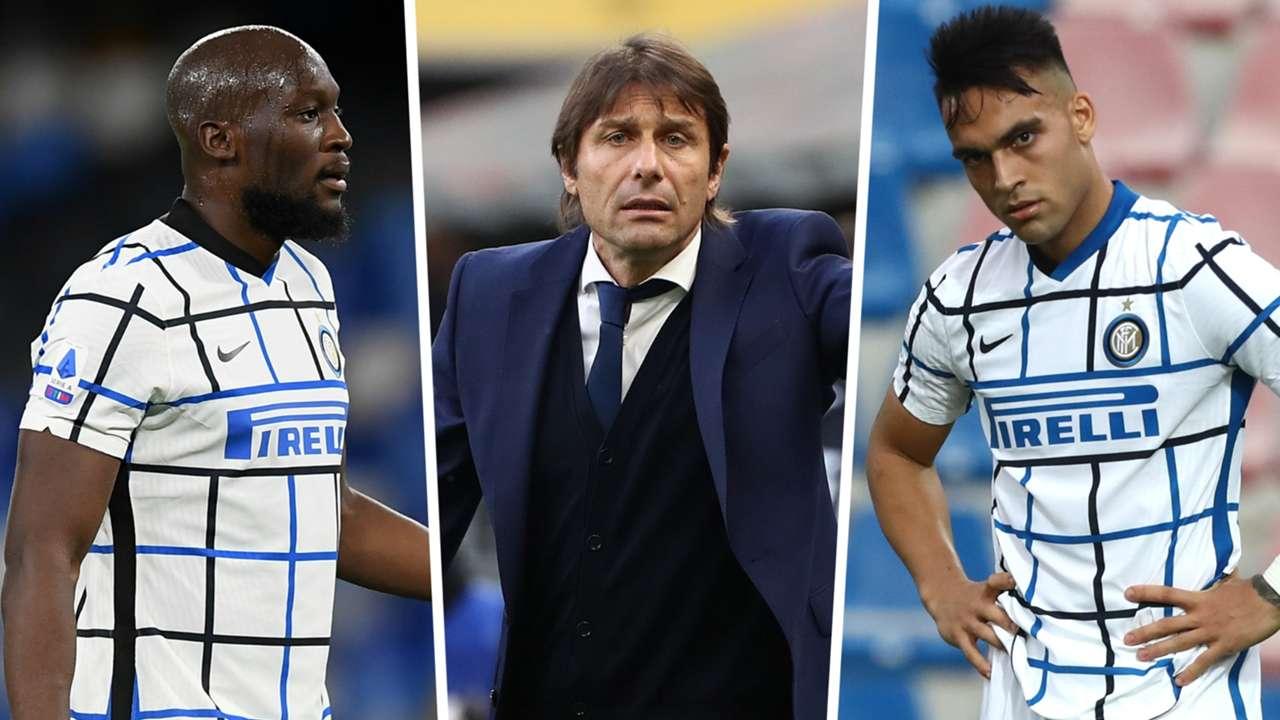 Romelu Lukaku Antonio Conte Lautaro Martinez Inter GFX