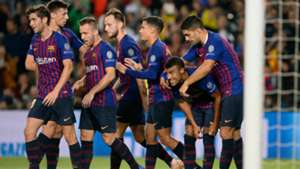 Barcelona celebrating Barcelona Inter Champions League