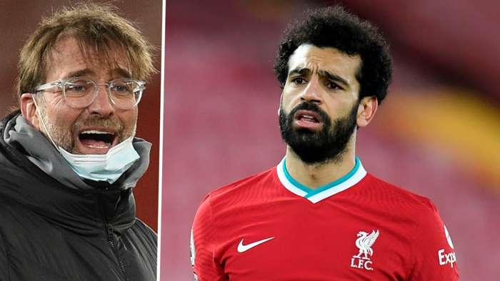 Jurgen Klopp Mohamed Salah Liverpool 2020-21