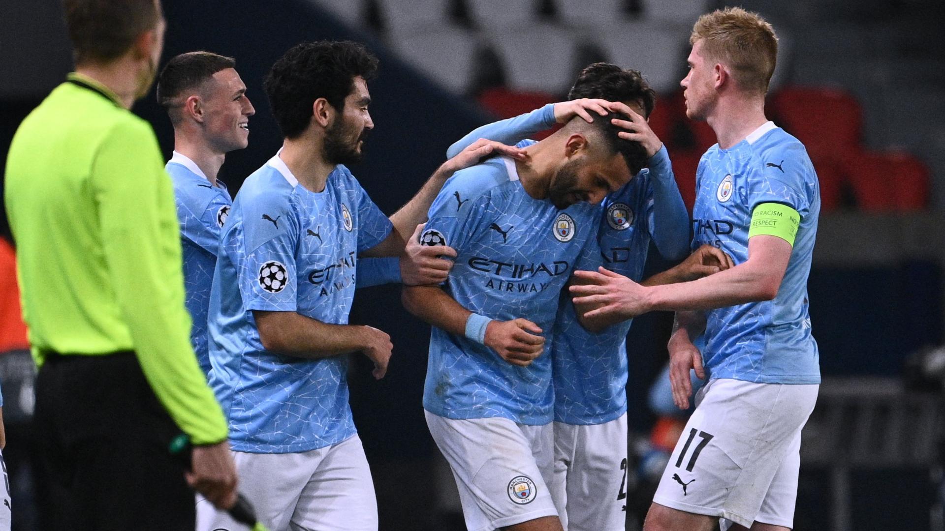 man city celebrate mahrez goal vs psg bfqg7ekt1fp613zvgts5brldc