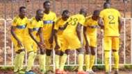 Wazito FC players celebrate.