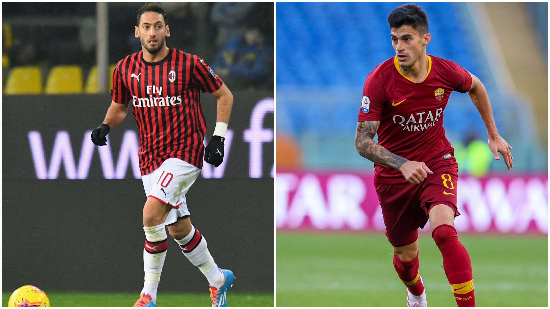 Roma e Milan pensano allo scambio Calhanoglu-Perotti