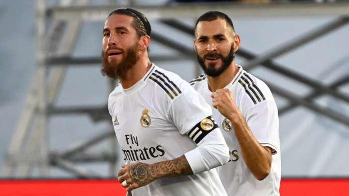 Sergio Ramos Karim Benzema Real Madrid 2019-20