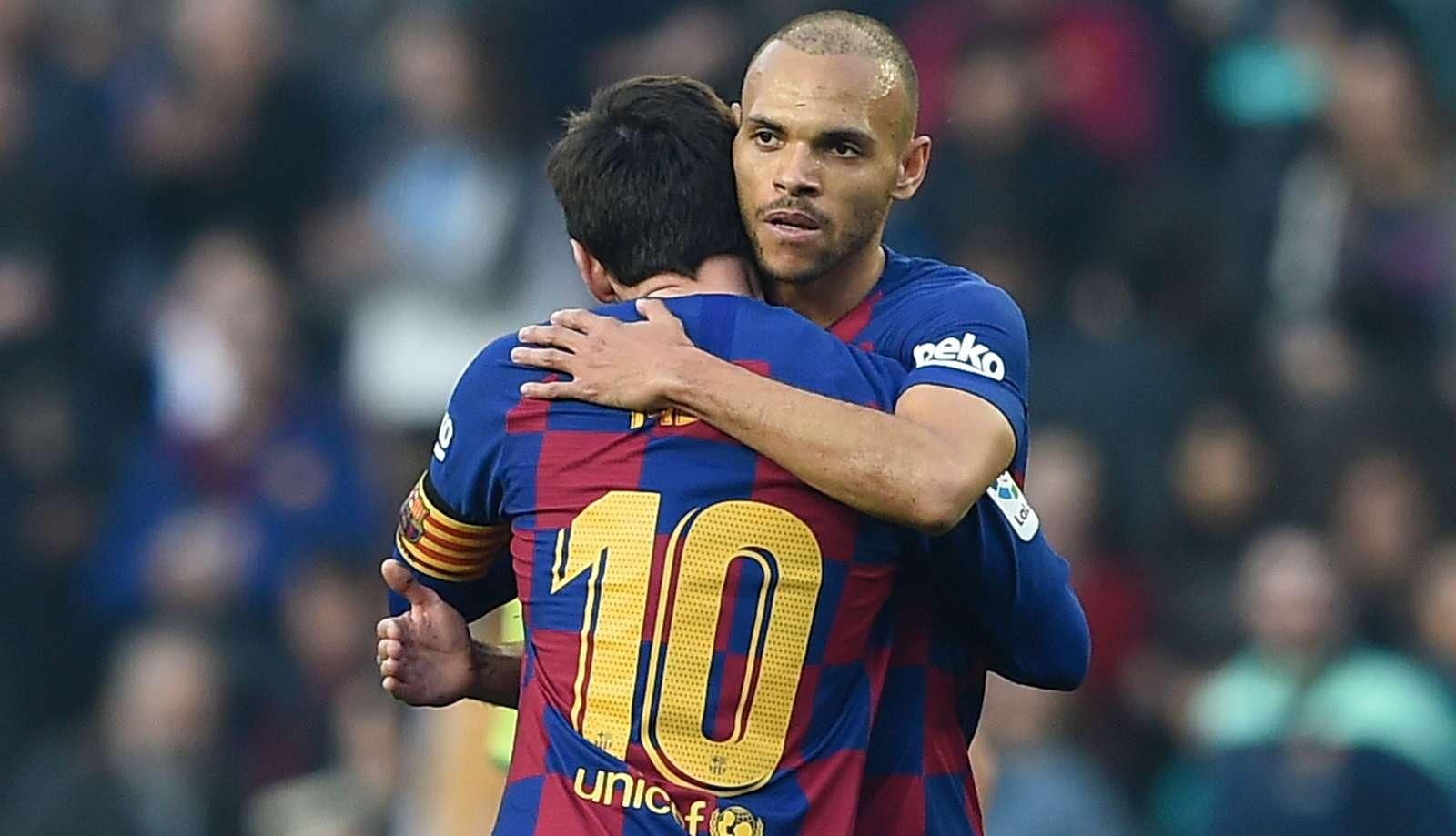 Martin Braithwaite & Lionel Messi