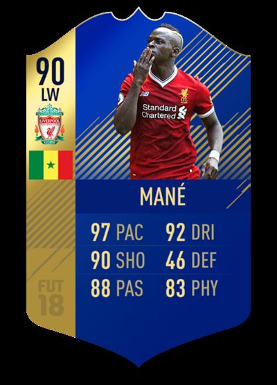 FIFA 18 Team of the Season Mane