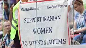 Iran women football fans stadium ban