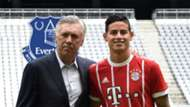 James Rodriguez Carlo Ancelotti Bayern Munich Everton GFX