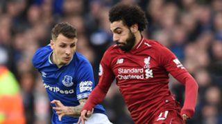 Lucas Digne, Mohamed Salah, Everton vs Liverpool 2018-19