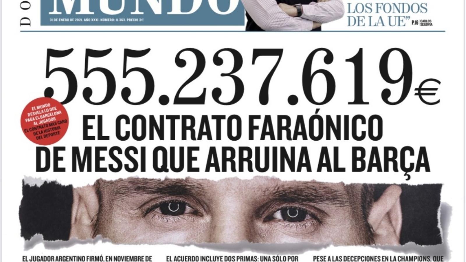 Il contratto di Messi da 555 milioni che ha rovinato il Barcellona
