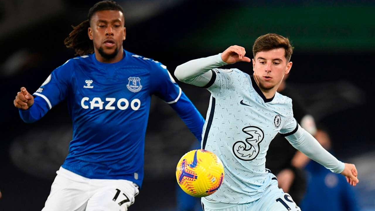 Alex Iwobi Everton Mason Mount Chelsea 2020-21