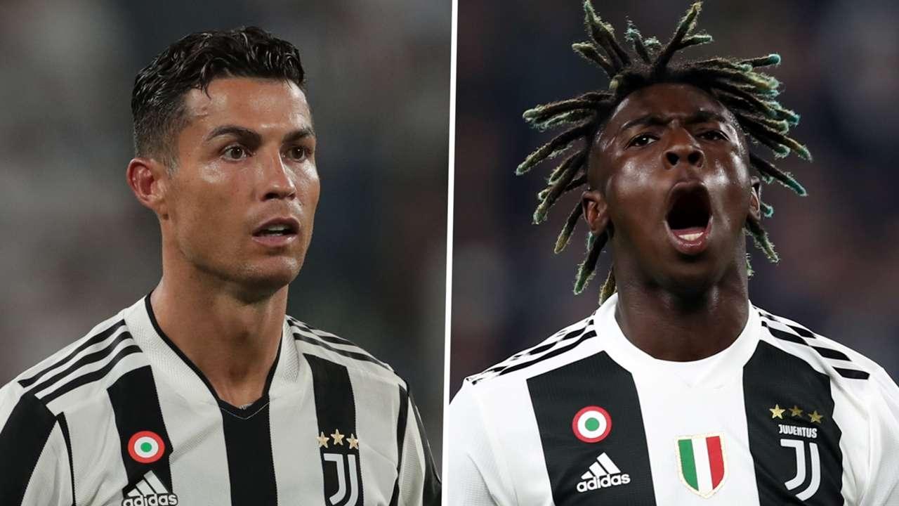 Cristiano Ronaldo Moise Kean Juventus GFX