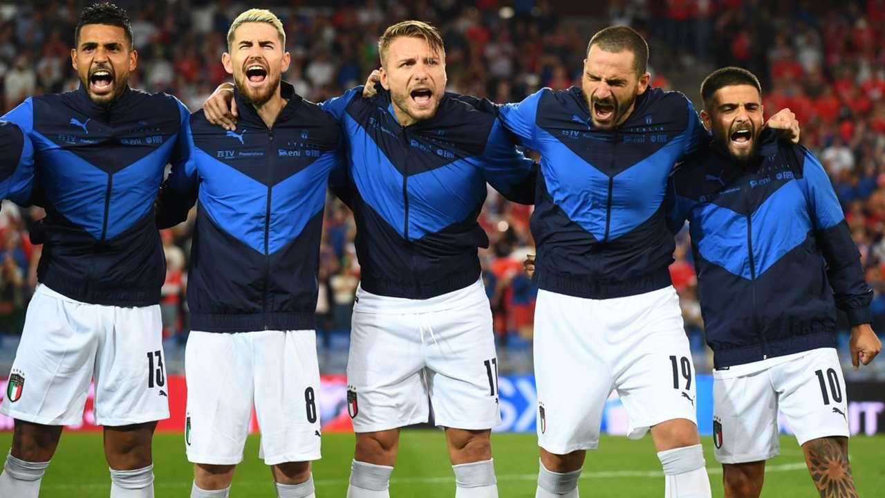 Italy Switzerland national anthem 2021