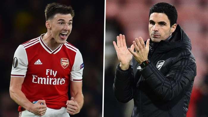Kieran Tierney Mikel Arteta Arsenal 2019-20