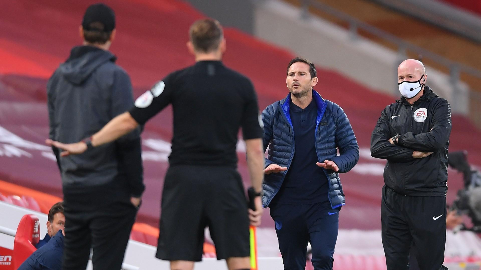Lampard Klopp Chelsea Liverpool 2020