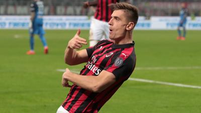 Krzysztof Piatek AC Milan Serie A 2018-19