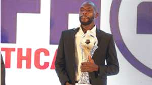 Gor Mahia defender Joash Onyango with KPL trophy.