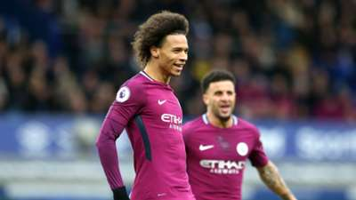 Leroy Sane Manchester City Everton Premier League