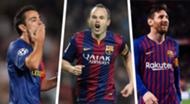 Xavi Lionel Messi Andres Iniesta Barcelona