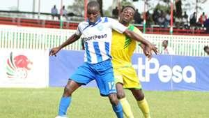 Isaac Kipyegon of AFC Leopards v Kakamega Homeboyz.