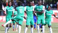 Samuel Onyango and Gor Mahia players celebrate.