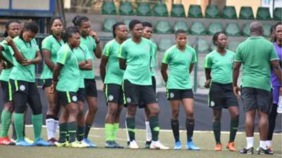 Super Falcons train for Cote d'Ivoire in Lagos