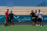 Real Madrid player Lucas Vázquez training during the summer in the Rafa Nadal Academy