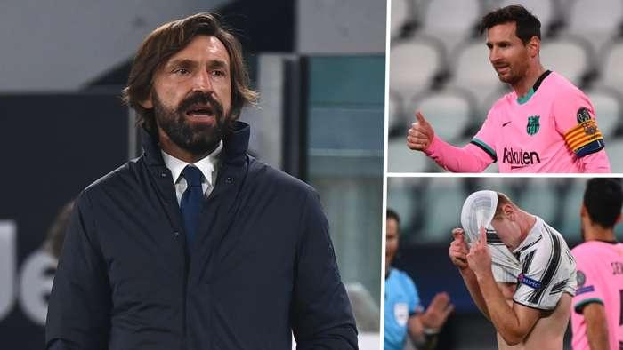 Andrea Pirlo Lionel Messi Juventus Barcelona 2020-21 GFX