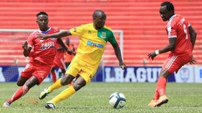 JOHN NAIRUKA of Posta Rangers and ANDREW_JUMA of Mathare United.