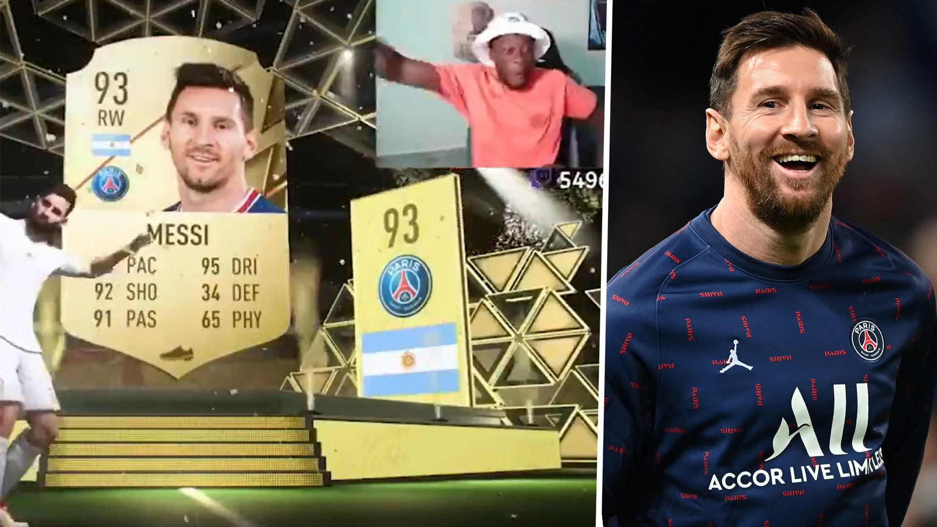 Watch Alphonso Davies go wild as he packs Messi in FIFA 22 Ultimate Team