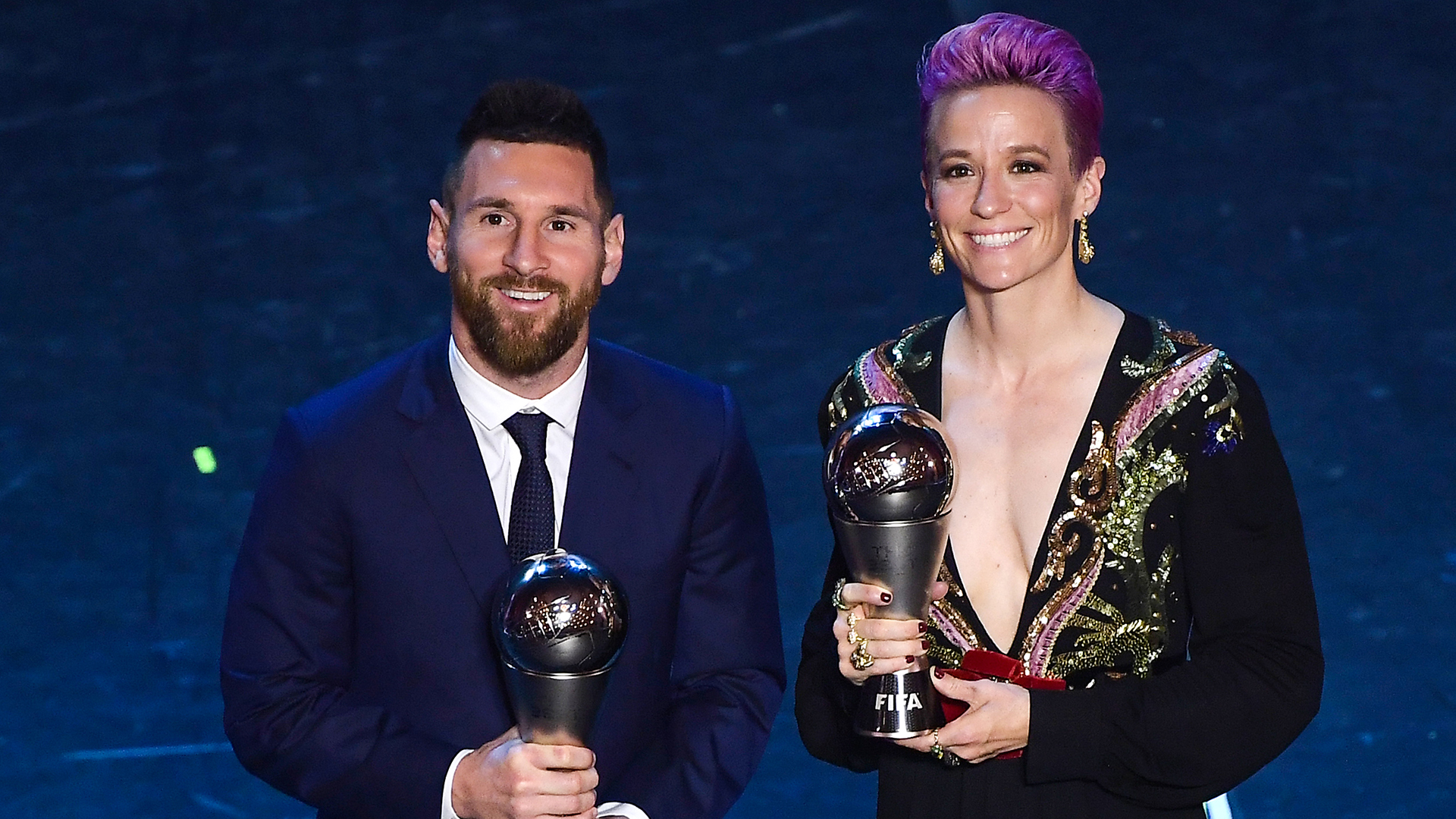 Women in sports- Megan with Messi at the 2019 FIFA Awards- SportzPoint