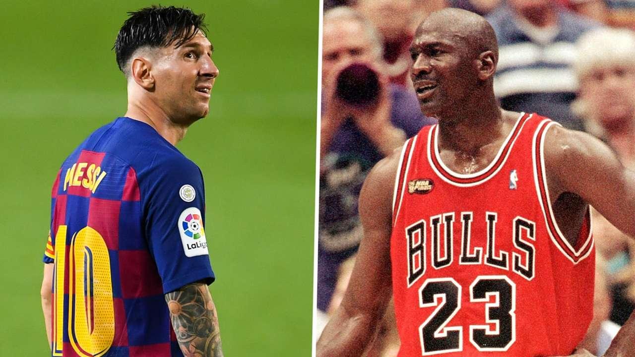 Lionel Messi Michael Jordan Barcelona Chicago Bulls GFX