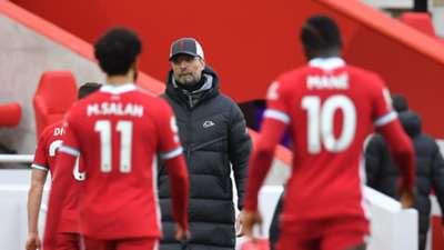 Klopp Salah Mane Liverpool 2021