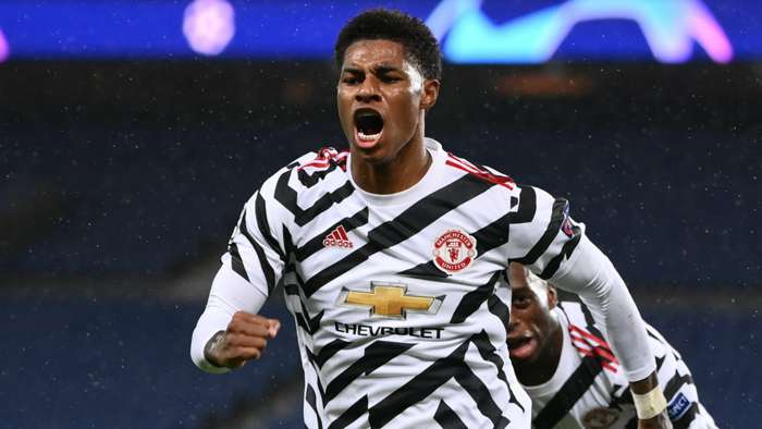 Marcus Rashford PSG vs Man Utd Champions League 2020-21