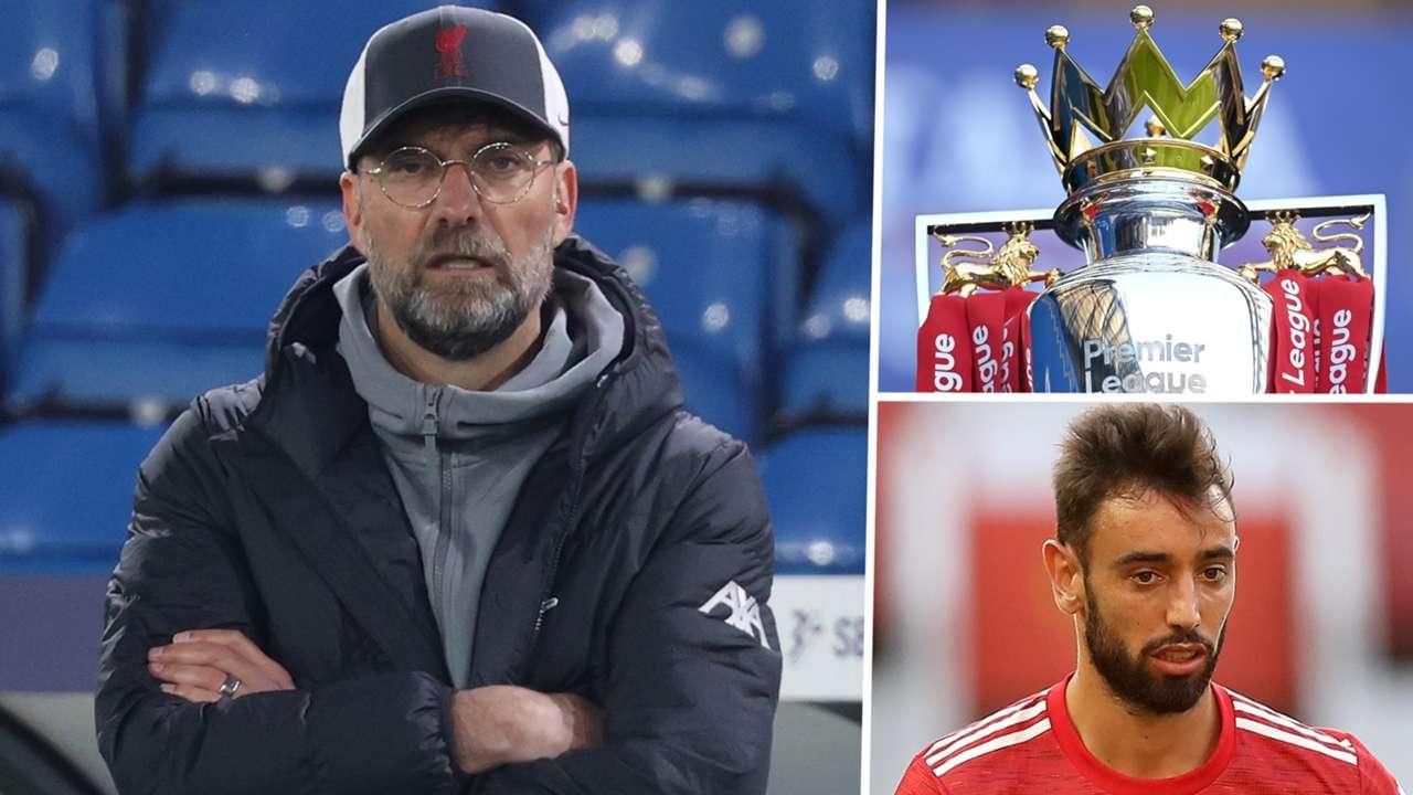 Jurgen Klopp Premier League Bruno Fernandes Liverpool Manchester United