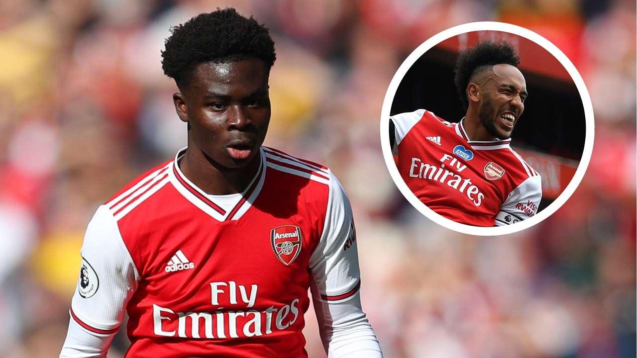Saka Aubameyang Arsenal GFX
