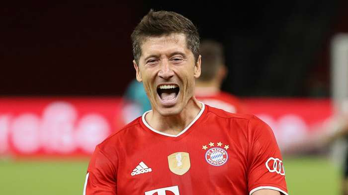 Robert Lewandowski Bayer Leverkusen vs Bayern Munich DFB Pokal final 2019-20