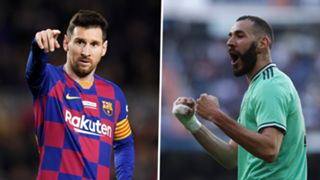 Lionel Messi Karim Benzema Barcelona Real Madrid